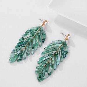 Leaf Tropical Statement Earrings